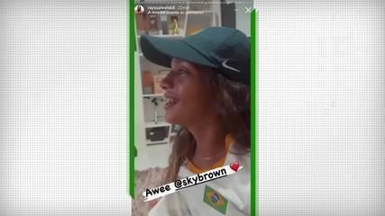 Rayssa Leal chora com bronze de Sky Brown no skate park - Olimpíadas de Tóquio