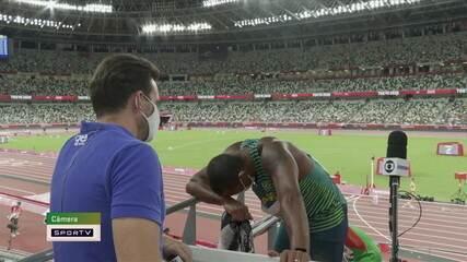Muito desgastado, Felipe dos Santos não consegue dar entrevista a repórter - Olimpíadas de Tóquio