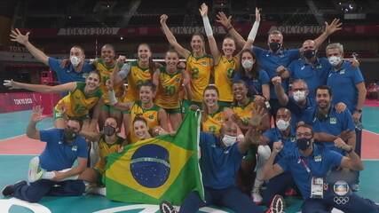 Brasil passa fácil pela Coreia e vai à final do vôlei feminino contra EUA