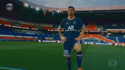 Lionel Messi é anunciado como novo jogador do Paris Saint-Germain