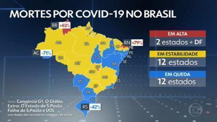 Brasil registra 1.183 mortes por Covid em 24 horas e se aproxima de 565 mil