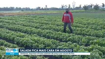 Geada faz preço de hortaliças subir 5% em SP em agosto