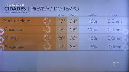 Veja como fica o tempo na sua cidade, em Goiás