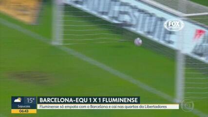 O Fluminense está fora da Taça Libertadores
