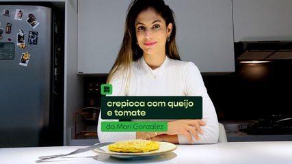 Mari Gonzalez ensina a fazer crepioca com queijo e tomate