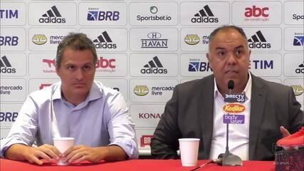 """Marcos Braz fala de reforços no Flamengo e sobre David Luiz diz: """"Pouco provável"""""""