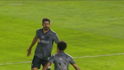 Gols do Fantástico: líder Atlético-MG empata com o Bragantino
