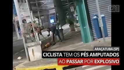 Morador fica ferido após ser atingido por explosivo deixado por bandidos em Araçatuba
