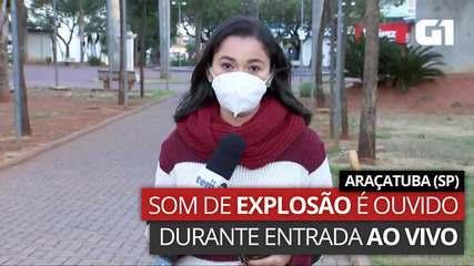 VÍDEO: Som de explosão é registrado em Araçatuba, SP