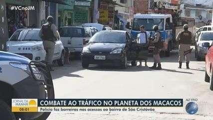 Polícia realiza operação em combate ao tráfico no Planeta dos Macacos, em Salvador
