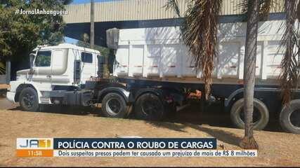 Dois homens são presos suspeitos de integrar grupo de roubo a carga, em Goiânia