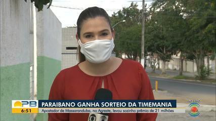 Paraibano ganha sorteio da Timemania e leva prêmio de R$ 21 milhões
