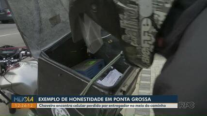 Redes sociais ajudam entregador a encontrar encomenda perdida em Ponta Grossa
