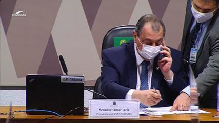 VÍDEO: Omar Aziz liga para diretor do Hospital Sírio-Libanês após testemunhas apresentarem atestados