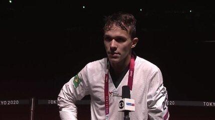 Nathan Torquato fala sobre a semifinal na categoria até 61kg, classe K44, do taekwondo