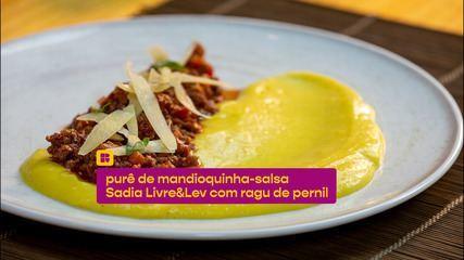 Purê de mandioquinha-salsa com ragu de pernil: veja a receita
