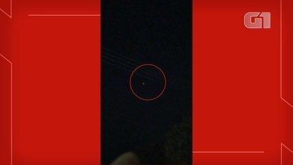Vídeo mostra momento em que aeronaves sobrevoam o céu de Aquidauana (MS), por volta das 3h