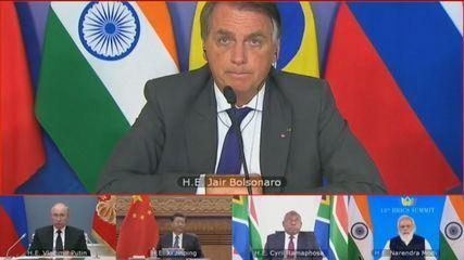 Em reunião do Brics, Bolsonaro destaca parceria com a China durante a pandemia