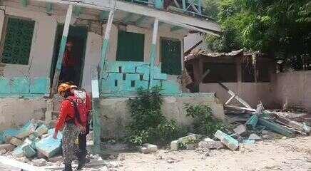 Bombeiros de MG atuam em áreas atingidas por terremoto no Haiti