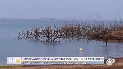 Nível do reservatório da hidrelétrica de Ilha Solteira chega a 1% da capacidade