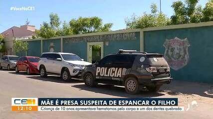 Mãe é presa suspeita de espancar filho de dez anos no Cariri