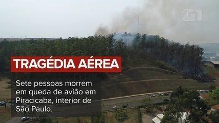 Acidente aéreo mata sete pessoas em Piracicaba