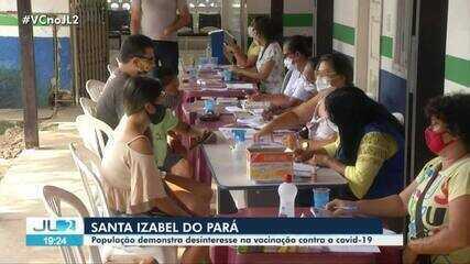 Santa Izabel do Pará enfrenta falta de interesse pela vacinação contra Covid-19