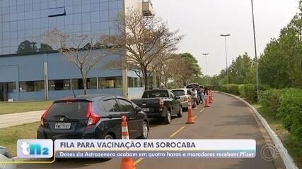 Sorocaba aplica mais de 20 mil doses da vacina contra a Covid nesta terça-feira