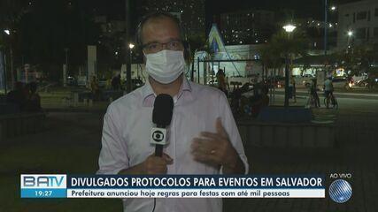 Prefeitura de Salvador anuncia protocolos sanitários para eventos com até mil pessoas