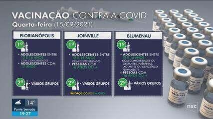 Veja como fica cronograma de vacinação contra Covid nas principais cidades de SC