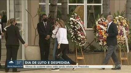 Família morta em acidente aéreo é velada em Piracicaba