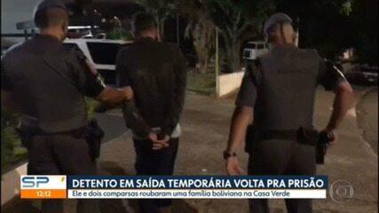 Homem em saída temporária é preso depois de assalto