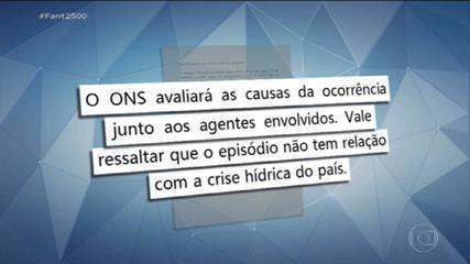 ONS afirma que apagão em cidades do RJ e MG não tem relação com crise hídrica