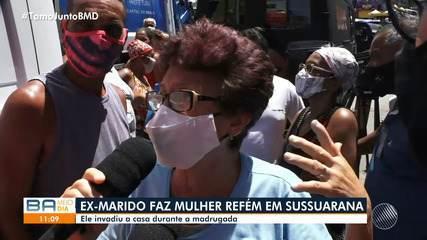 Mulher é feita refém por ex-companheiro no bairro de Sussuarana, em Salvador
