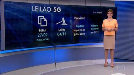 As regras para o leilão do 5G - a nova geração de internet móvel - foram aprovadas hoje