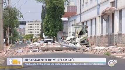 Defesa Civil fará demolição total do prédio que parte do muro desabou e matou vendedor