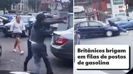 Britânicos brigam em filas de postos de gasolina em meio a desabastecimento nacional