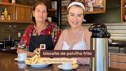 Fernanda Keulla ensina a fazer biscoito de polvilho