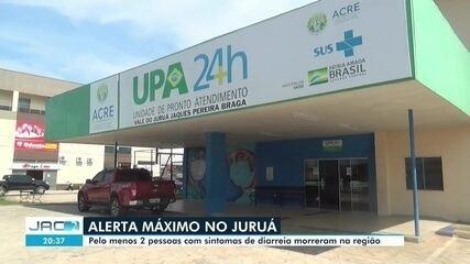 Pelo menos duas pessoas morreram na região do Juruá com quadro de diarreia