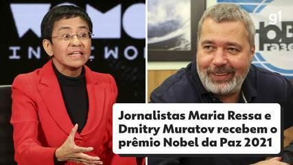 Nobel da Paz 2021 vai para Maria Ressa e Dmitry Muratov