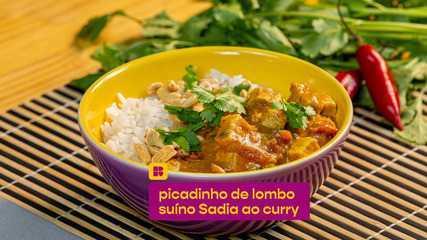 Picadinho de lombo suíno Sadia ao curry: confira a receita