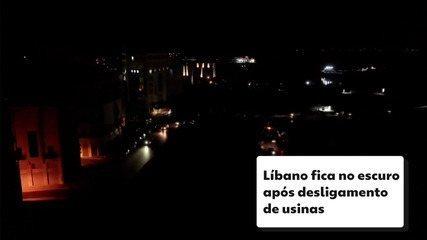 Apagão no Líbano: país fica no escuro após desligamento de usinas por falta de combustível