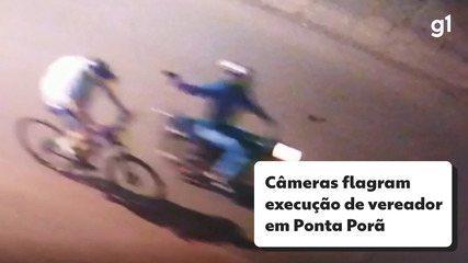 Imagens de câmeras de segurança mostram execução de vereador em Ponta Porã