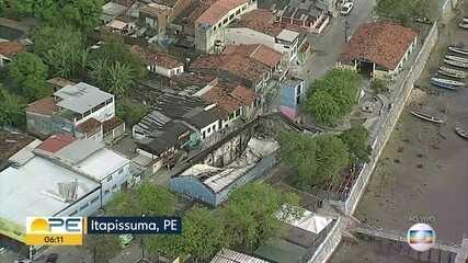 Incêndio atinge Centro de Artesanato de Itapissuma e comerciantes perdem os produtos
