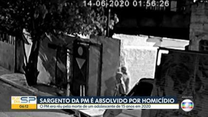 Justiça de SP absolve um dos PMs acusados de envolvimento no assassinato de Guilherme Guedes, de 15 anos