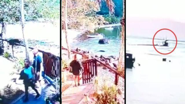 Leonardo Machado de Andrade, de 50 anos, e Cristiane Nogueira da Silva, de 48, saíram de barco na tarde do dia 22 de agosto para verem o pôr do sol em ilha próxima. Câmeras registraram momentos em que o casal chegou ao imóvel, dois dias antes, e a saída para o passeio