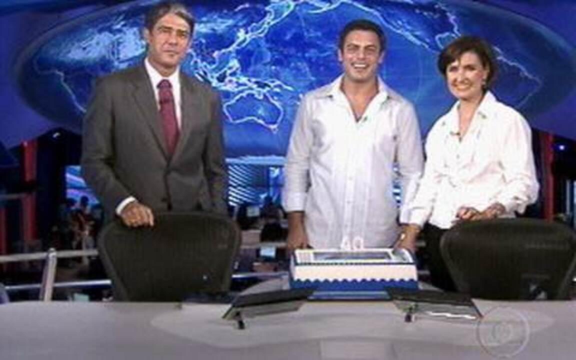 'Vídeo Show' comemora os 40 anos do 'Jornal Nacional'