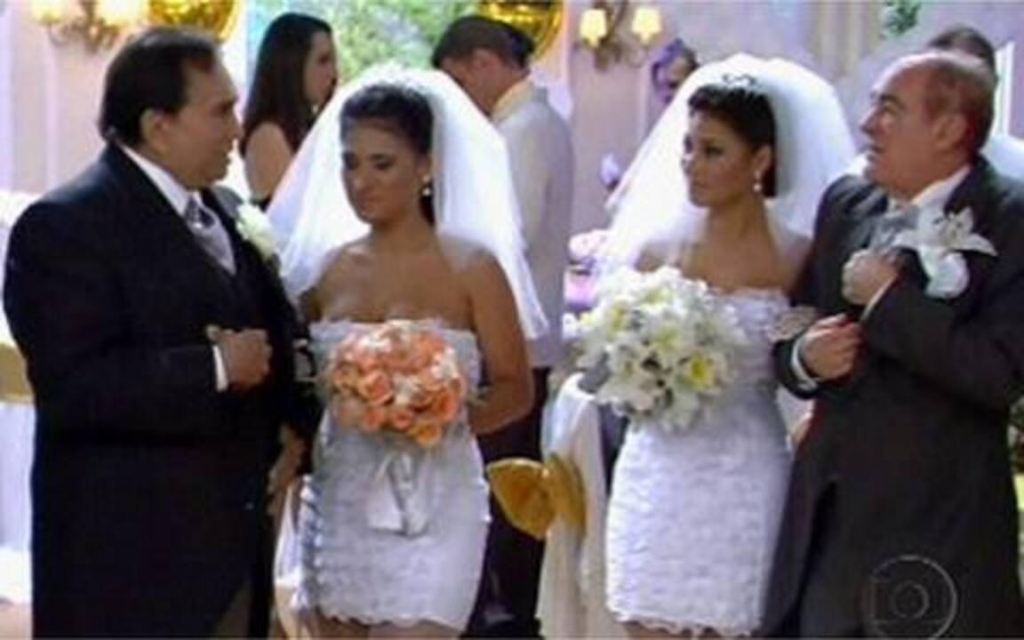 Didi e Dedé se casam com noivas gêmeas