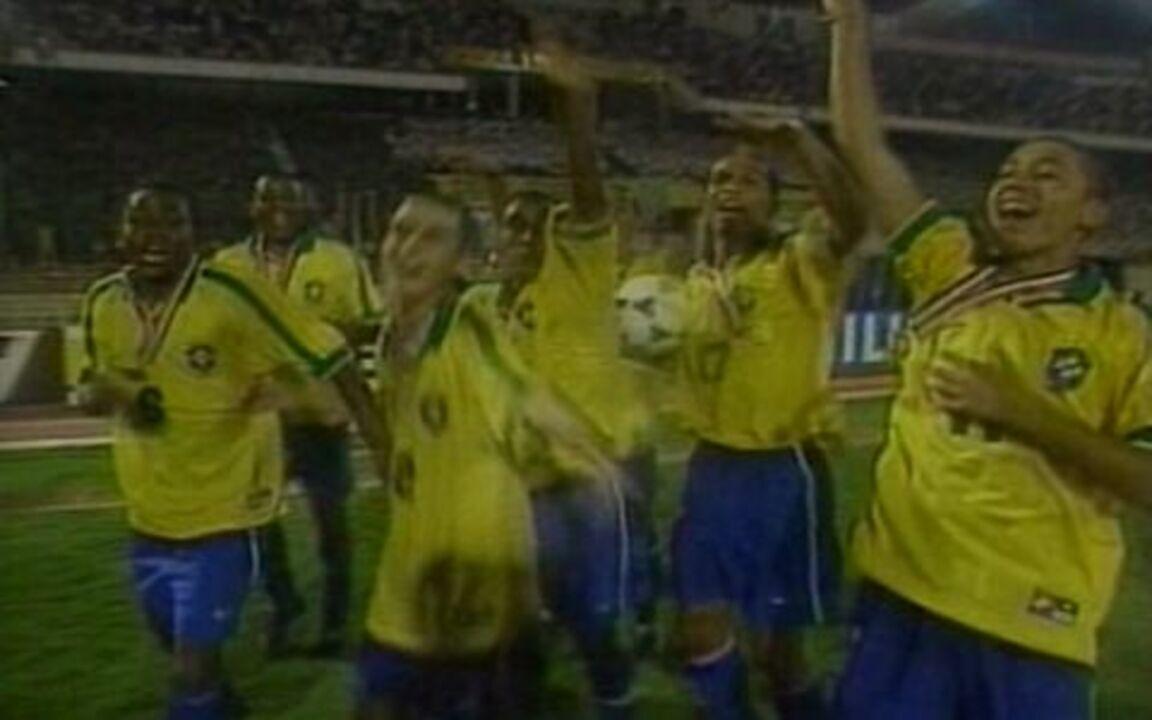 Em 1997, Brasil vence Gana por 2 a 1 e fica com o título mundial sub-17