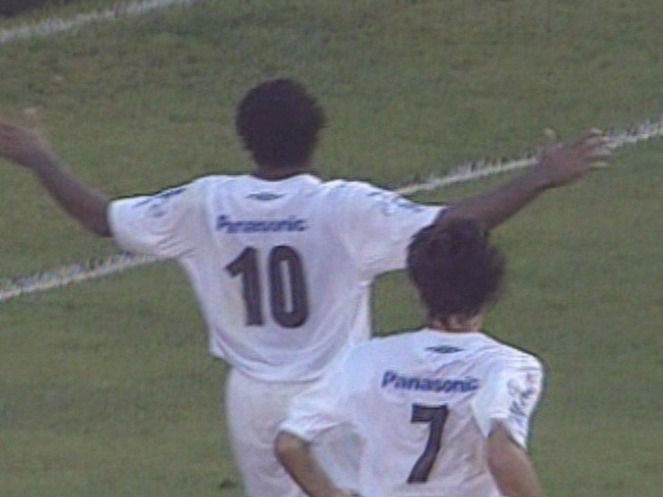 Em 2006, Santos faz 3 a 0 sobre o Flamengo na Vila Belmiro pelo Brasileirão